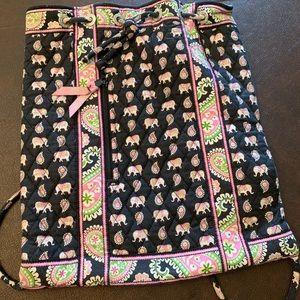 Vera Bradley pink elephants backsack